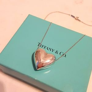Tiffany & Co Rare Puffed Heart Pendant Necklace